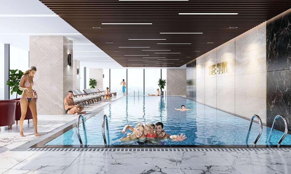Bể bơi tại chung cư The Sun
